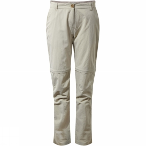 Craghoppers Craghoppers Womens NosiLife Zip Off Trousers Desert Sand