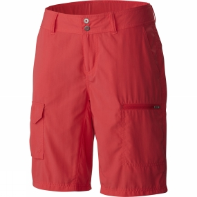 columbia-womens-silver-ridge-cargo-shorts-red-camellia