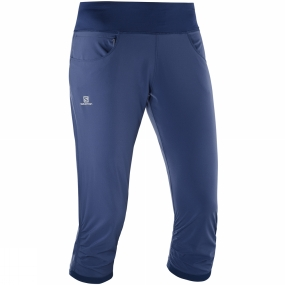 Salomon Salomon Womens Elevate Capris Deep Cobalt