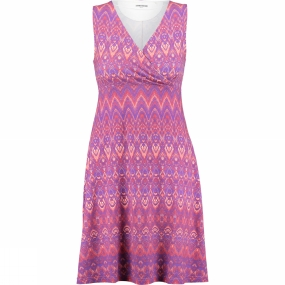 Ayacucho Womens Flora Dress Tribe Cranberry