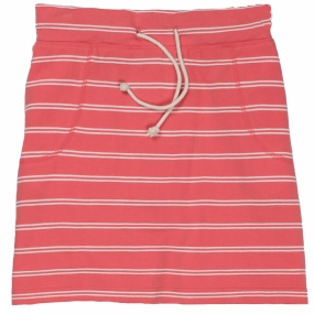 Brakeburn Womens Jersey Striped Skirt Coral