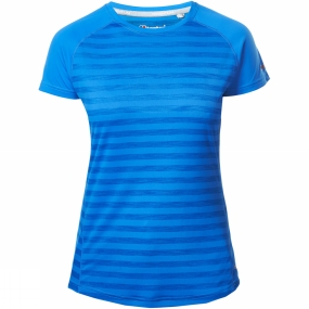 Berghaus Berghaus Womens Stripe Short Sleeve Crew Baselayer Sapphire Stripe