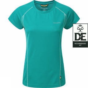 Craghoppers Womens Vitalise Base T Bright Turquoise