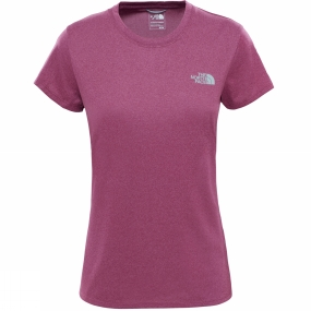 The North Face Womens Reaxion Amp Crew Amaranth Purple Heather