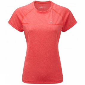 Ronhill Womens Everyday Short Sleeve Tee Hot Pink Marl