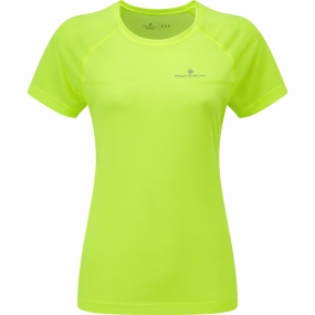Ronhill Womens Everyday Short Sleeve Tee Fluo Yellow