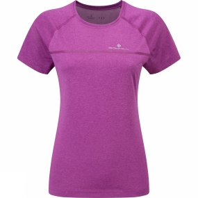 Ronhill Womens Everyday Short Sleeve Tee Thistle Marl