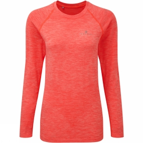 Ronhill Ronhill Womens Aspiration Space-Dye Long Sleeve Tee Neon Candy Marl