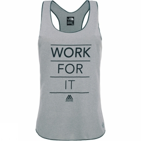 The North Face Womens MA Graphic Play Hard Tank TNF Light Grey Heather/TNF Black