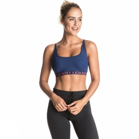 Roxy Roxy Womens Jamlin Sports Bra Blue Depths