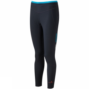 Ronhill Ronhill Womens Stride Winter Tights Charcoal/Deep Cyan
