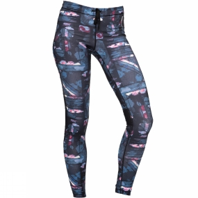 Roxy Roxy Womens Stay On Pants 3 Anthracite Blur Print