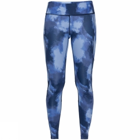 Trousers Jack Wolfskin Womens Athletic Cloud Tights Midnight Blue All Over