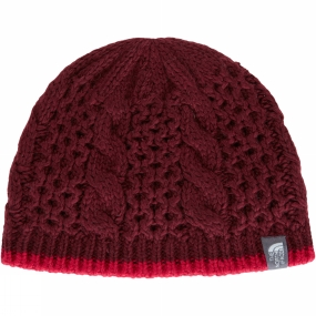 The North Face Women's Cable Minna Beanie Deep Garnet Red