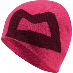 Mountain Equipment Wons Branded Knitted Beanie VPink/Cranberry