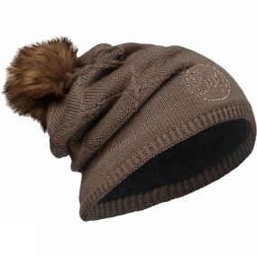 Buff Buff Womens Knitted Hat Stella Chic Brown / Brown