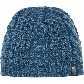 The North Face Womens Cable Minna Beanie Ink Blue