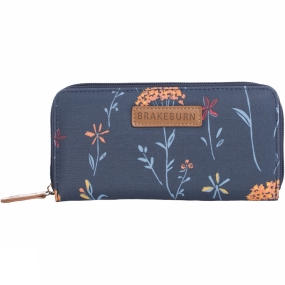 Brakeburn Womens Summer Dandelion Purse Navy Flower Print