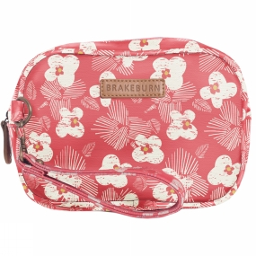 Brakeburn Spring Daisy Small Wash Bag Coral Flower Print