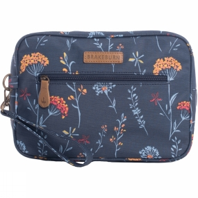 Brakeburn Womens Summer Dandelion Large Wash Bag Navy Flower Print