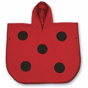 LittleLife LittleLife Kids Ultralight Poncho Towel Medium Ladybird
