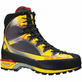 La Sportiva A technical mountaineering boot with a seamless upper construction, the Trango Cube uses a Thermo Tech Injection external coating that provides structure and reinforcement at a lower weight and with a greater degree of comfort than a traditional panel construction.Further comfort is provided by the anatomical padding inside the boot along with the stretch tongue integrated with the upper that prevents the formation of folds and superfluous layers of material and lets the foot move with the shoe.The overall weight of the boot is reduced further thanks to low profile of the La Sportiva Cube sole by Vibram. TPU inserts in the heelpad help to absorb shock and reduce rebound on impact with the ground.