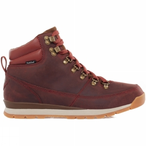 The North Face Mens Back To Berkeley Leather Boot Dark Red