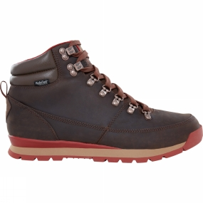 The North Face Mens Back To Berkeley Leather Boot Carafe Brown/ Ketchup Red
