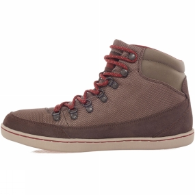 The North Face The North Face Mens Basecamp Ballistic Mid Boot Weimaraner Brown/Brock House Red