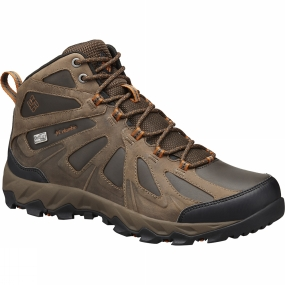 Columbia Mens Peakfreak XCRSN II Mid Leather OutDry Boot Cordovan / Bright Copper