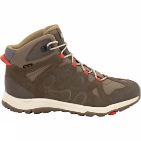 Jack Wolfskin Mens Rocksand Texapore Mid Boot Volcano Red