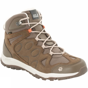 Jack Wolfskin Mens Rocksand Texapore Mid Boot Rocky Brown