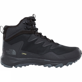 The North Face When you need a mid-cut hiking boot with superior waterproof protection and stability, turn to the Ultra Fastpack III Mid GTX®. GORE-TEX® technology completely blocks out the wet to keep your feet dry, while a new FastFoam™ system maximises energy return and promotes stability, so you can move faster for longer. Underneath, an OrthoLite® footbed delivers long-lasting comfort and an ESS Snake Plate™ eliminates stone bruising. The Vibram® Megagrip outsole ensures durable, sticky traction in all conditions. TPU-coated woven mesh in the vamp and quarter provides a sleek, progressive look and added protection from the elements.