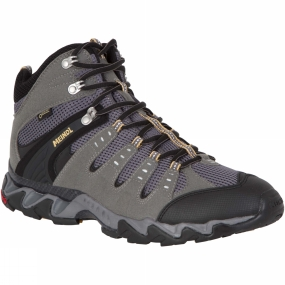 Meindl More than a trainer, but not quite a boot. An aggressive design coupled with advanced shoe-making technology makes for trail shoes that are extremely stable, waterproof and comfortable for travelling fast. The higher ankles give you more support over uneven terrain.