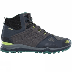 The North Face Mens Ultra Fastpack II Mid GTX Boot Phantom Grey/ Lime Green