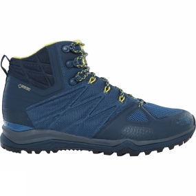 The North Face Mens Ultra Fastpack II Mid GTX Boot Shady Blue/ Acid Yellow