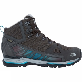 The North Face Mens Ultra GTX Surround Mid Boot Beluga Grey/ Algiers Blue