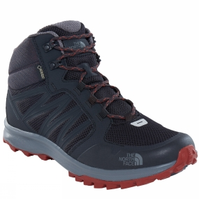 The North Face Mens Litewave Fastpack Mid GTX Boots Phantom Grey/ Brandy Brown