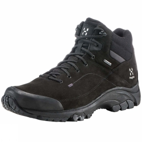 Haglofs The Mens Ridge Mid GT Boot from Haglof gives amazing grip over any terrain, with reinforced rubber toes and heels for added protection. The mid-cut design provides extra support. Smart material choices and innovative tweaks give an unbeatably reliable, waterproof shoe, already a classic in the range.