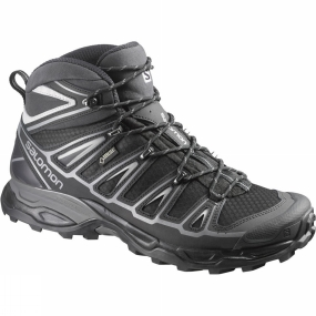 Salomon Salomon Mens X Ultra Mid 2 GTX Boot Black/Black/Aluminium