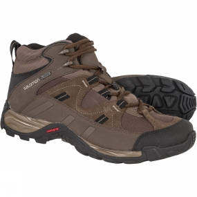 Salomon Salomon Mens Hillpass Mid GTX Boot Burro/Brown/Black