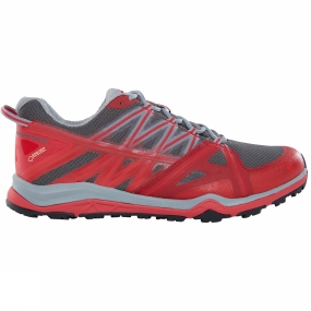 The North Face Mens Hedgehog Fastpack Lite II GTX Shoe Griffin Grey/TNF Red