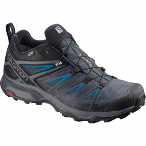 Salomon Salomon Mens X-Ultra 3 GTX Shoe Black/India Ink/Hawaiian Surf