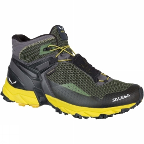 Salewa The Mens Ultra Flex Mid GTX Shoe from Salewa is a waterproof, breathable mid-cut shoe designed for speed hiking and high-intensity mountain training. Built around Michelin