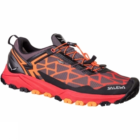 Salewa The Mens Multi Track GTX Shoe is a low-cut, lightweight breathable mountain training shoe with a Michelin outsole that covers a wide range of activities: speed hiking, mountain training or other high-octane mountain sports.Its hybrid design meets the demands of three different sports: hiking, running and mountain biking. Perfectly at home on rough and uneven terrain such as rocky trails, mud or grass, the Multi Track offers the stability of a hiking shoe, the cushioning of a running shoe, and MTB flat pedal-compatibility - thanks to the specially designed tread pattern under the forefoot. Its hardwearing and sure-grip Multi Track outsole was developed in partnership with Michelin.The Multi Track combines a weight-saving, minimalist upper with a cushioning midsole with TPU injected inserts. It benefits from Salewa