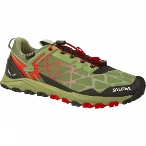 Salewa Salewa Mens Multi Track GTX Shoe Oil Green / Fluorescent Coral