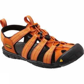 Keen Mens Clearwater CNX Sandal Sunset/Marigold