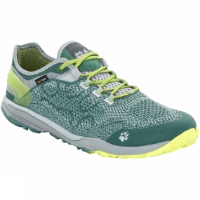 Jack Wolfskin Jack Wolfskin Mens Crosstrail Knit Low Shoe Palm Green