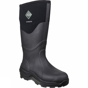 Muck Boot A classic in the Muck Boot Company line-up, the Muckmaster has served farmers and an array of outdoor workers for nearly a decade.  With its tall rubber overlay, these rugged boots withstand sharp objects and are extremely warm, even standing in a wet field.