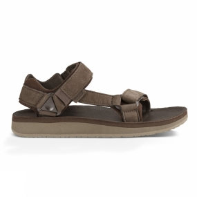 Teva Teva Original Universal Premier Leather Chocolate Brown